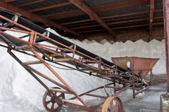 Salt factory  near Burgas, Bulgaria Stock Photos