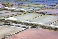 Salt farm in Aveiro. Royalty Free Stock Photos