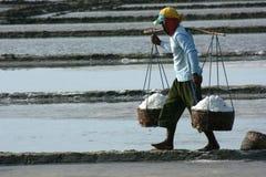 Salt farm. In Kaliori, Pati, central java, indonesia royalty free stock image