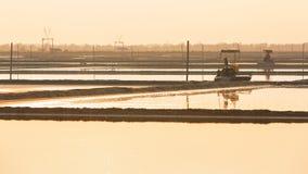 Salt farm Stock Photos