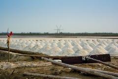 Salt farm samutsakorn. Salt farm factory in Thailand Stock Photo