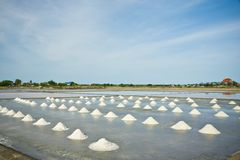 Salt farm in Thailand Royalty Free Stock Images
