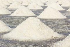 Salt farm in Thailand Stock Photos