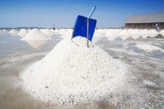 Salt farm in Thailand Royalty Free Stock Photos