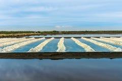 The salt farm. Royalty Free Stock Photos