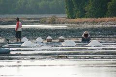 Salt farmer Stock Images