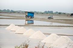 Salt farming or Salt evaporation pond Royalty Free Stock Image