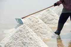 Salt farming in Thailand Stock Photography