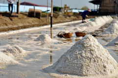 Salt farming Thailand. Row of salt farming Thailand Stock Photography