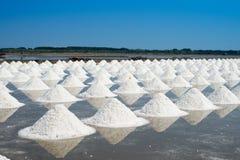 Salt farming in Thailand Stock Photo