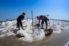 Salt farming in Thailand Stock Photos