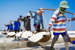 Salt farming in Thailand Royalty Free Stock Photo