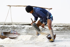 Salt farming in Thailand Royalty Free Stock Photography