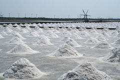 Salt-Field. The agricultural production of salt in Thailand Royalty Free Stock Photo
