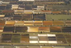 Salt field. View from above Stock Images