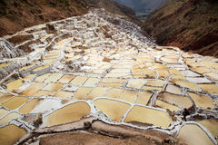 Salt field in Cuzco near Sacred Valley, Peru Stock Images