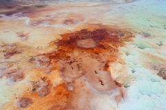 Salt field in Dead sea Stock Photography