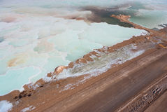 Salt field in Dead sea Stock Photography