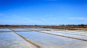 Salt field Royalty Free Stock Photography
