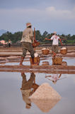 Salt field in Kampot, Cambodia Royalty Free Stock Image