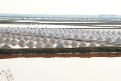 Salt field at Samut Sakhon, Thailand. Salt pan at Samut Sakhon Province in Thailand Portrait view Royalty Free Stock Photos