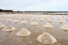 Salt field in thailand Royalty Free Stock Image