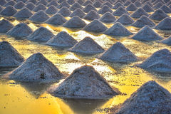 The salt field in thailand Stock Image