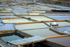 Salt Fields Stock Photo