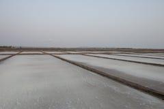 Salt fields. Kampot, Cambodia. Salt fields off the coast of Kampot, Cambodia Stock Photos