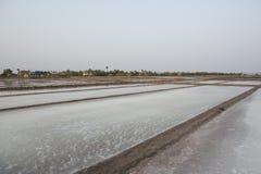 Salt fields. Kampot, Cambodia. Salt fields off the coast of Kampot, Cambodia Stock Photography