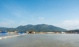 Salt fields in Nha Trang, Vietnam Stock Image