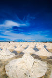 Salt fields Royalty Free Stock Image