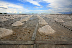 Salt fields in thailand Royalty Free Stock Images