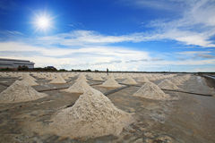 Salt fields in Thailand Royalty Free Stock Photos