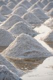 Salt fields in thailand Stock Photography
