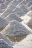 Salt fields in thailand Stock Photography