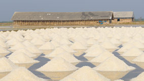 Salt fields in thailand Royalty Free Stock Image