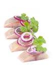 Salt fillet herring Royalty Free Stock Photography