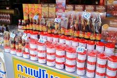 Salt fish and shrimp paste Stock Photos