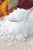 salt flakes arkivfoto