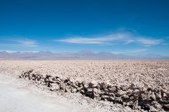 Salt flat of Atacama (Chile) Stock Photography