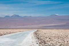 Salt flat of Atacama (Chile) Royalty Free Stock Photo