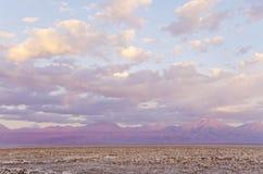 Salt Flat in Atacama Desert in Chile Stock Images