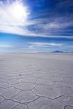 Salt Flat. On bolivian altiplano near Uyuni Royalty Free Stock Photography