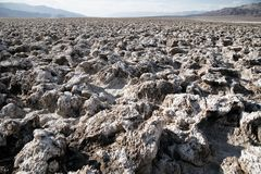 Salt flat-Death Valley national park Royalty Free Stock Images