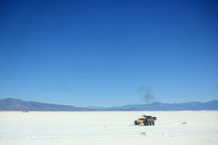 Salt flat in highlands on the north of Argentina Stock Images