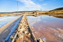 Salt flat of Imon, Guadalajara (Spain) Stock Photography