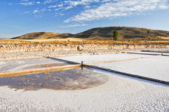 Salt flat of Imon, Guadalajara (Spain) Royalty Free Stock Photos