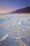 Salt Flat. A landscape of the salt pan at Badwater Basin in Death Valley National Park Stock Images