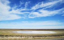 Salt Flat Patagonia Royalty Free Stock Images